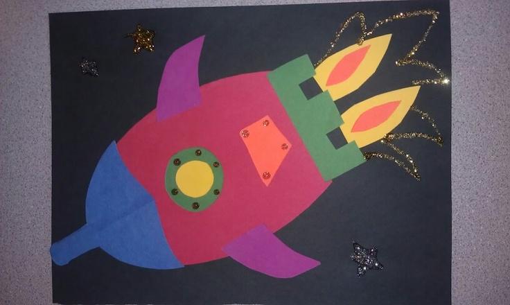 Rocket Ship Art Project