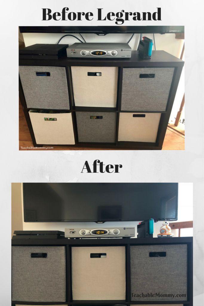 Hiding TV wires, Home DIY, Easy DIY, How to hide TV wires, #ad