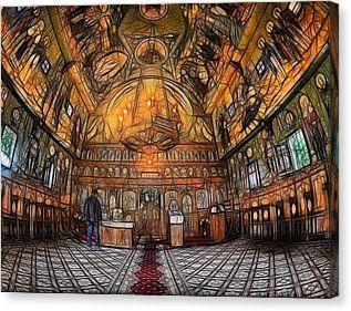 Catholic Orthodox Church Hdr Fractal  Canvas Print by Galeria Zullian  Trompiz #Catholic #Orthodox #Church #Hdr #Fracta #galeriazulliantrompiz #zullian #trompiz #galeria #galery  #canvasl