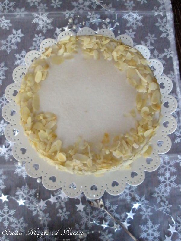 Makowy tort marcepanowo-pomarańczowy z rumem