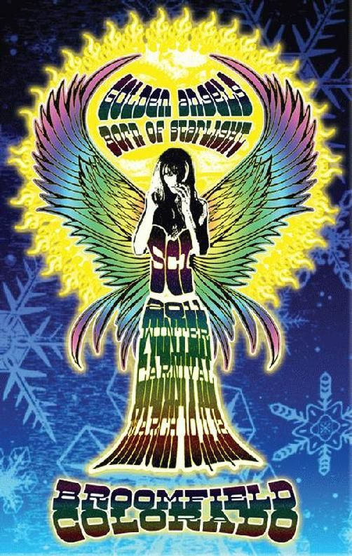 Original concert poster for The String Cheese Incident and Winter Carnival at First Bank Center in Broomfield, CO in 2011.  14 x 22 inches. Signed and numbered out of only 100 by the artist Mark Serlo.