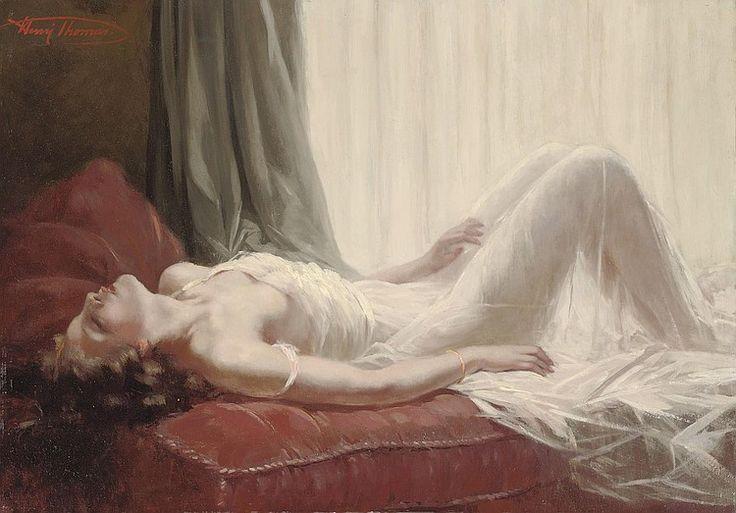 Henri Joseph Thomas, Femme couche au voile