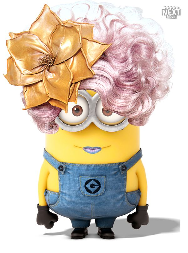 Check out Effie Trinket as a minion from 'Despicable Me'  ... so cute