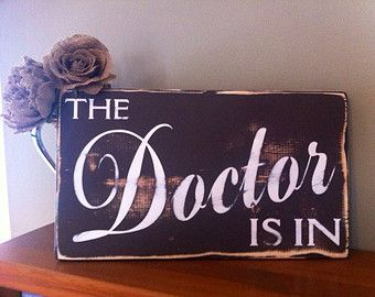 Doctor's Office Sign, The Doctor Is In Desk Plaque Office Gift, Medical Student Mother's Day Gifts, Med School Graduation Gift, Doc's Birthday