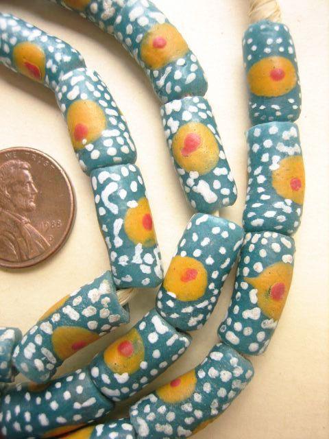 Ghana Glass Krobo Beads by bobbydoe on Etsy, $10.00