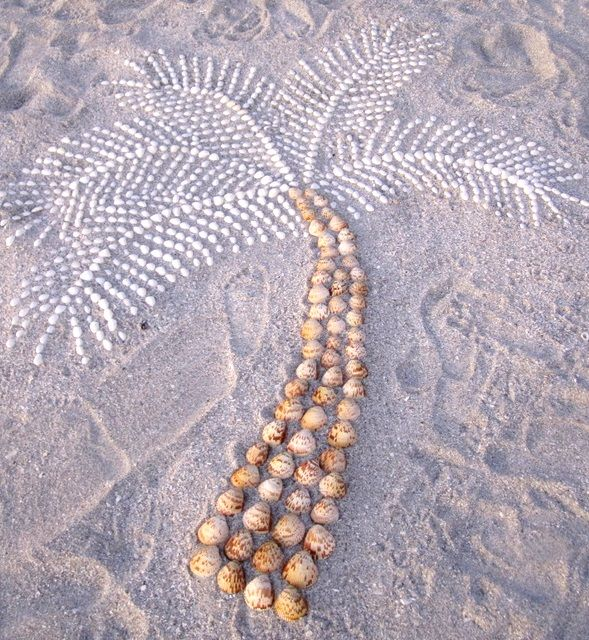 Sanibel Shell Art on the Beach: http://beachblissliving.com/sanibel-island-worlds-best-shelling-beaches/