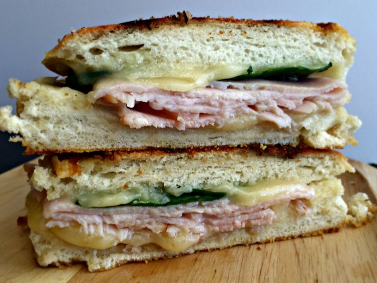 Havarti, Turkey and Spinach Panini - restaurant-style sandwich without leaving your home!