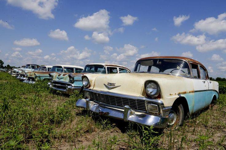 Gran subasta de automóviles antiguos en su mayoría Chevrolets en Pierce, Nebraska, 12 de agosto. Foto: AP
