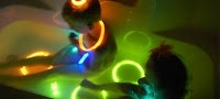 75 Kid Activities! Glow sticks in bath tub; this one looks fun!