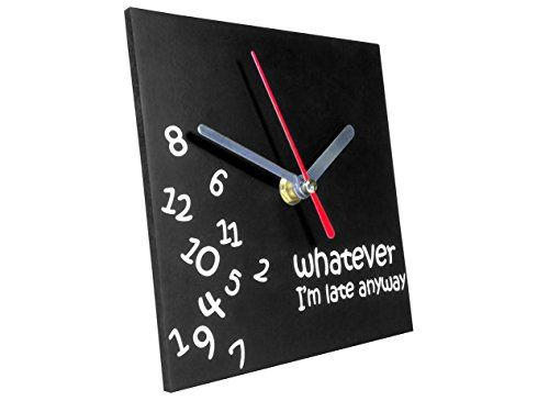 TechAffect ® Clock - Whatever Im Late Anyway - Novelty Desktop Clock Clock - Black Square Face with White Hands No description (Barcode EAN = 5060223869483). http://www.comparestoreprices.co.uk/december-2016-4/techaffect-®-clock--whatever-im-late-anyway--novelty-desktop-clock-clock--black-square-face-with-white-hands.asp