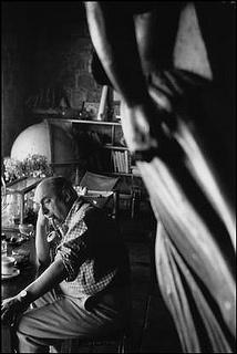 photographer Sergio Larrain (1931 - 2012), chilean. The poet Pablo Neruda in his house, Isla Negra, Valparaiso Chile. 1957