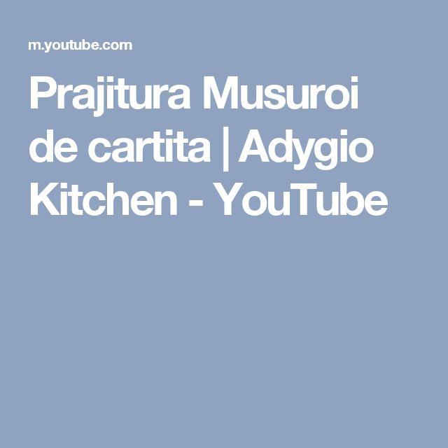 Prajitura Musuroi de cartita   Adygio Kitchen - YouTube