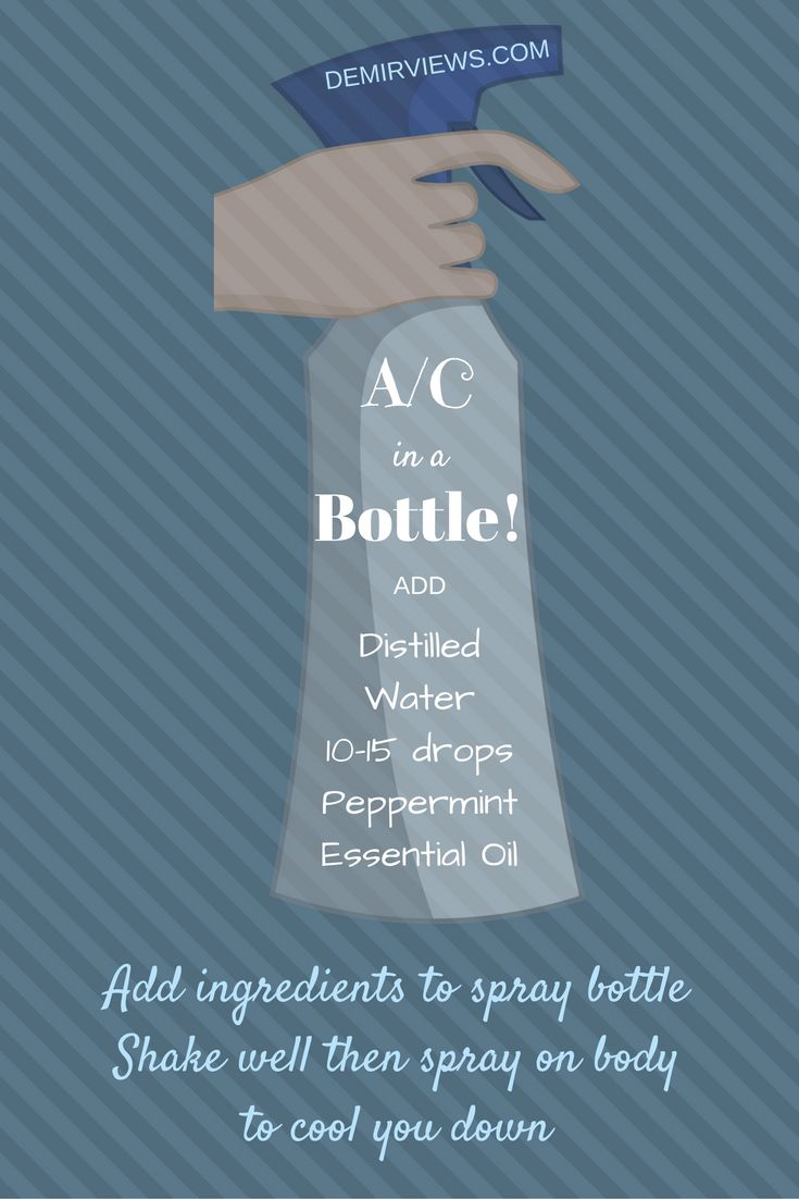 Air conditioner in a bottle peppermint essential oil uses