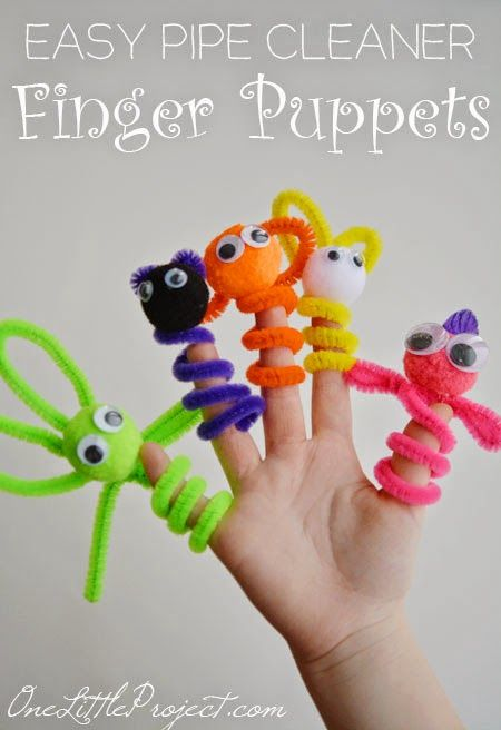 Pipe Cleaner Finger Puppets [Crafts for Kids] or for ends of pencils