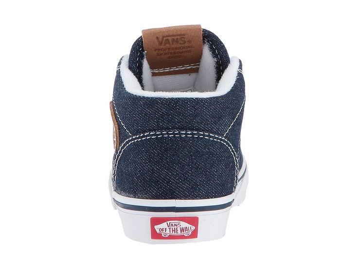 Vans Kids Half Cab (Toddler) Boys Shoes (Denim C&L) Dress Blues/Chipmunk