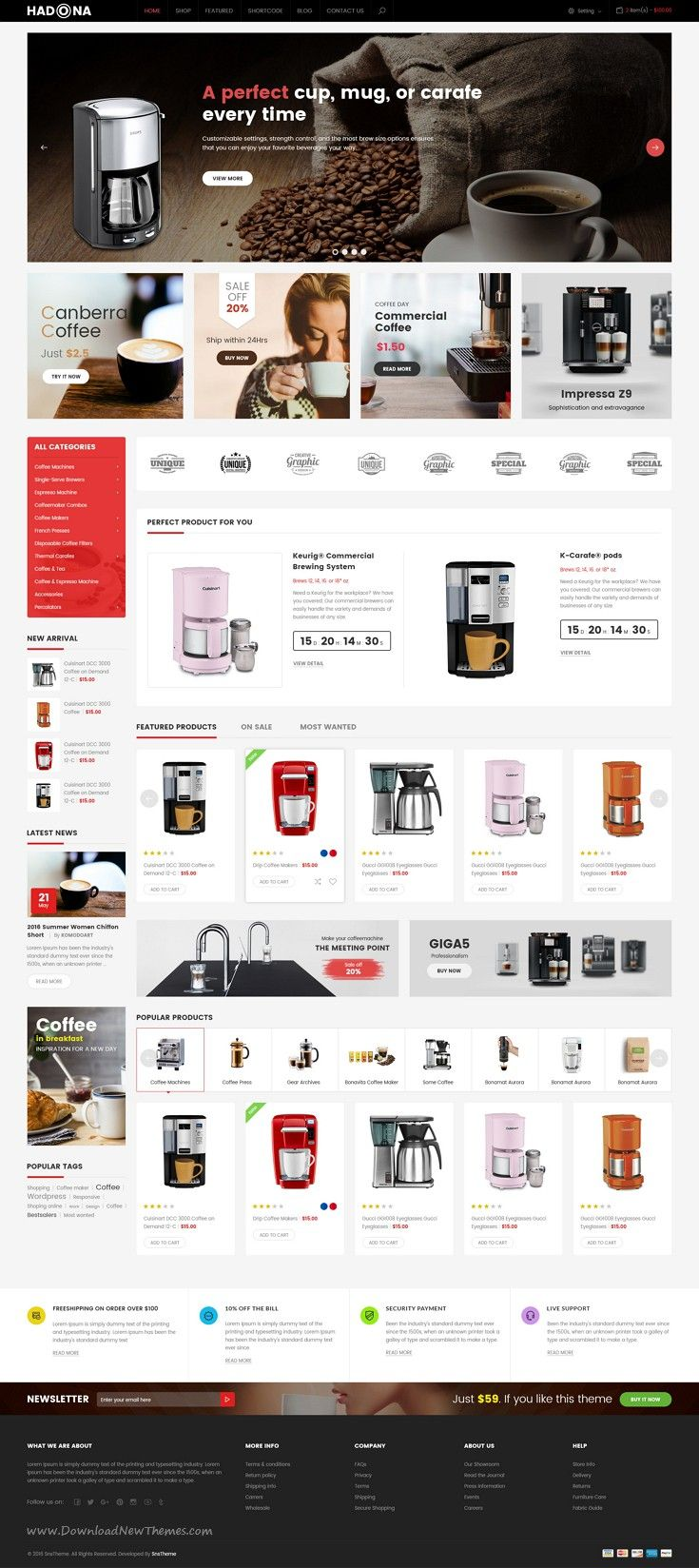 Hadona is great premium PSD #template for electronics #shop #eCommerce website. Download Now!