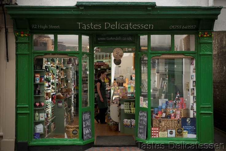 Tastes Delicatessen; an independent, fine food retailer, based in a pretty, grade II listed, building at number 92 High Street, Eton, Windsor, Berkshire.    Tastes Delicatessen stocks a superb range of cold meats, cheeses, olives, preserves, pickles, drinks, biscuits, cakes and chocolates, along with many incredibly tasty items that also happen to be gluten, dairy and/or nut free.     www.tastesdeli.co.uk