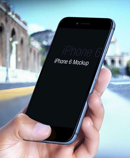 50 Free iPhone 6 and iPhone 6 Plus Mockups (PSD, AI & Sketch) - 41