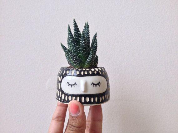 CUTE PLANT POT // Wheel thrown ceramic pot Mini by Hinkleville