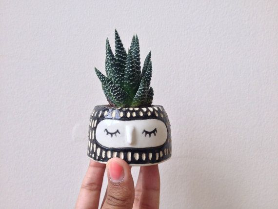 CUTE PLANT POT // Wheel thrown ceramic pot Mini by Hinkleville