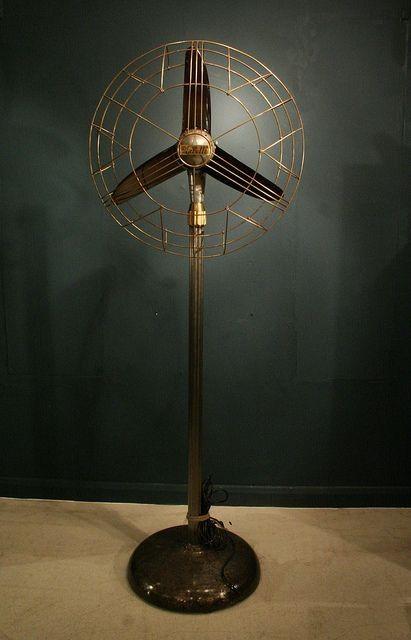 Art Deco Marelli floor standing fan