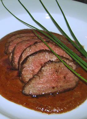 Ostrich steak - Tasty lean steak. No gamey taste. Trust me: it's good.