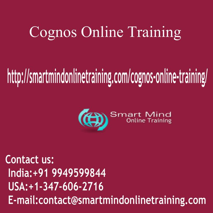 "Cognos Online Training Leaders currently supply a variety of IBM Cognos suite like Cognos 10 BI and TM1. Cognos training courses are run on Classroom, Online periods and customer sites (to company classes). Our instructors are experienced Cognos advisors who can provide invaluable, useful, real-world examples of how the software is utilized on Jobs Cognos Online Training. <a href=""http://smartmindonlinetraining.com/cognos-online-training/""> Cognos Online Training </a>"