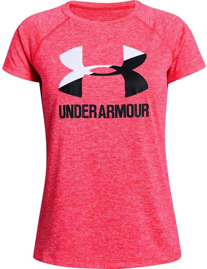Under Armour Girls Rival Print Fill Short-Sleeve T-Shirt