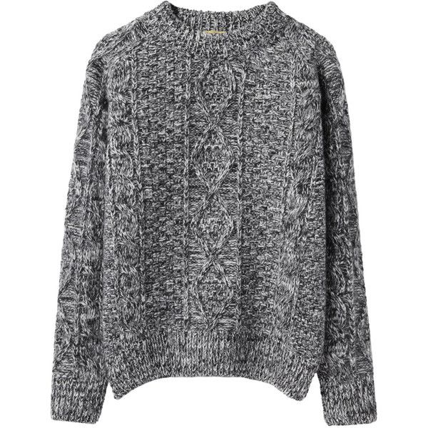 Peter Jensen Cable Knit Jumper (3,125 MXN) ❤ liked on Polyvore featuring tops, sweaters, jumpers, shirts, long cable knit sweater, mock turtle neck shirts, turtleneck sweater, cable knit sweater and long turtleneck sweater