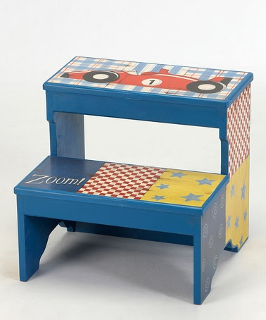 Would be great in the bathroom for our son. Take a look at this Blue Race Car Step Stool by Kindergarten Plus on #zulily today!