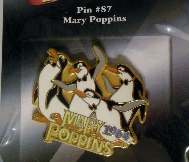 Disney Store 100 Years of Dreams Pin #87 Mary Popping 1964 Penguins New