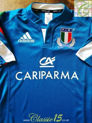 Official Adidas Italy home rugby shirt from the 2013/2014 season.