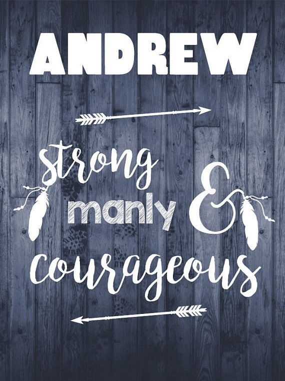 Andrew Name Meaning  Printable Nursery Art 8x10  Set by BeadyGee