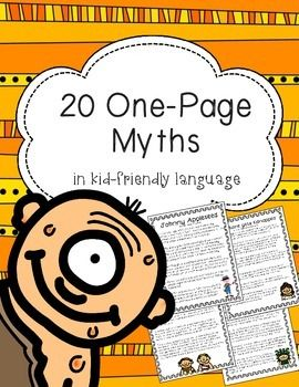 These are great to use for independent reading when working with myths. A problem I frequently have while teaching ELA is that I never have enough of a particular type of reading material for all my kids to be reading the same thing...Now you have some variety!