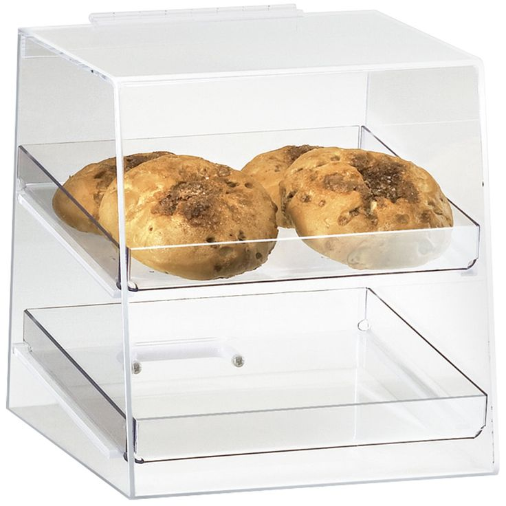 "Cal-Mil 280 Classic Two Tier Acrylic Display Case with Rear Door - 10"" x 10"" x…"