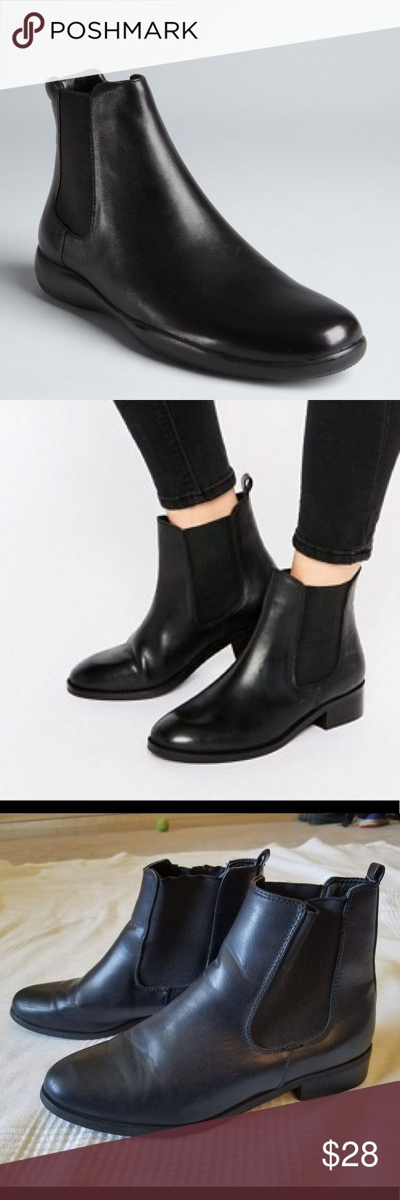 Urban Outfitters BDG Black Booties Shoes Barely worn, excellent condition, and low heel makes them comfortable. Great with skinny jeans, skirts, and dresses. Urban Outfitters Shoes Ankle Boots & Booties