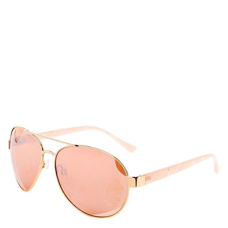 Claire/'s Girl/'s Pink Mirrored Aviator Sunglasses