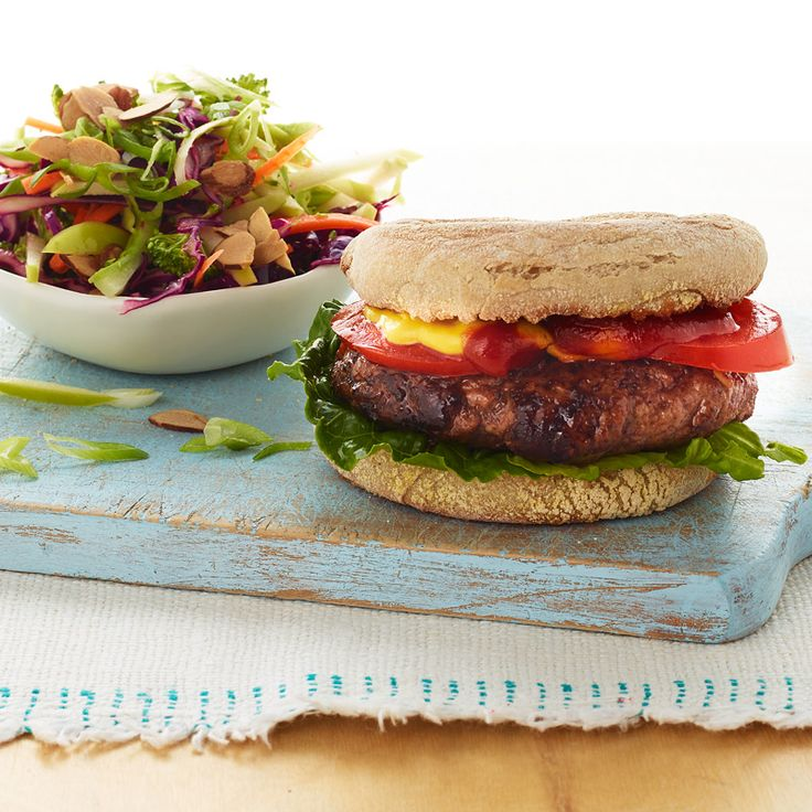 Burger and Slaw - Healthy Meal for One | Weight Watchers Canada