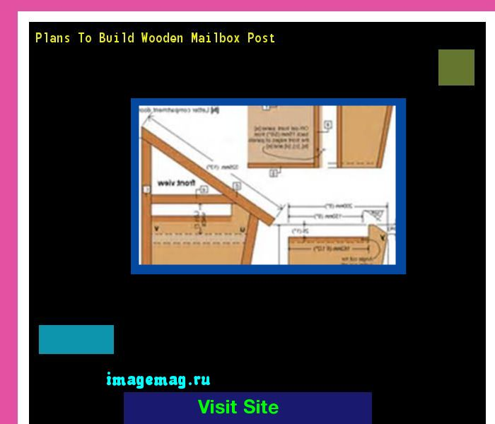 Plans To Build Wooden Mailbox Post 094209 - The Best Image Search