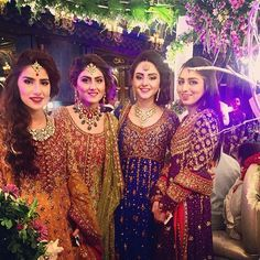 The Gulzar girls all in Dr Haroon tonight at the #Noozain Baraat #DrHaroon…