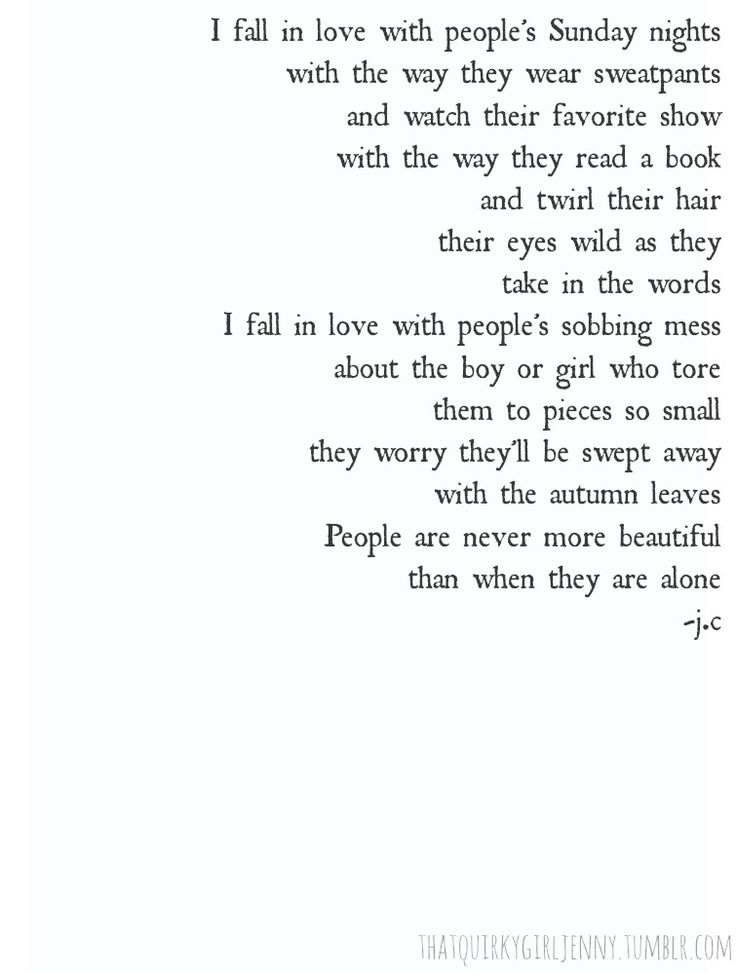 I fall in love with people