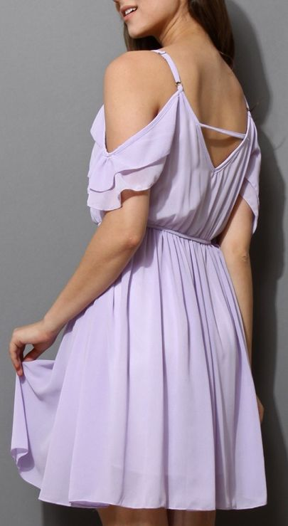 Lavender dress ~love the sleeves and the back