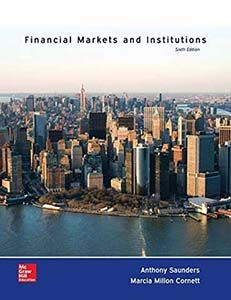 Financial Markets and Institutions 6th Edition Test Bank by Saunders, Cornett free download sample pdf - Solutions Manual, Answer Keys, Test Bank