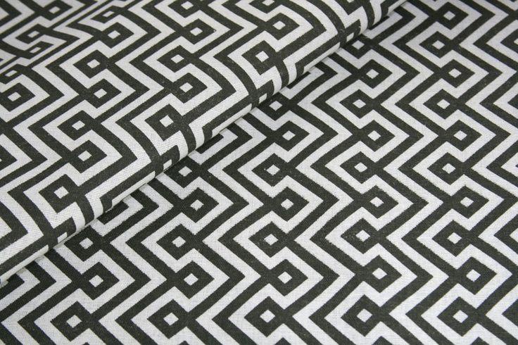Stoff grafische Muster - Canvas Geometrisch gemustert Baumwolle Meterware - ein Designerstück von Stoffe-ag bei DaWanda