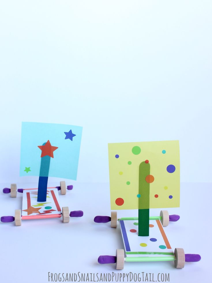 Wind Car - kids can discover and explore propulsion, engineering, and movement with this building STEM activity.