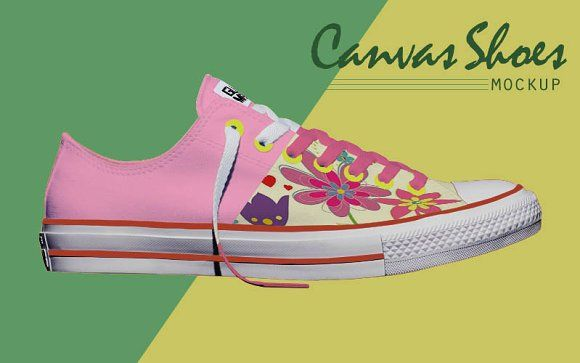 Low up Canvas Shoes Mockup by Gumacreative on @creativemarket