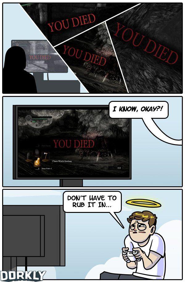 """The Never-Ending Deaths of Dark Souls"" #dorkly #geek #darksouls"