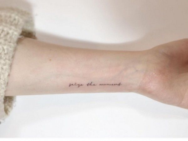 Seize the moment  - 12 kleine, motiverende tattoos  - Nieuws - Lifestyle