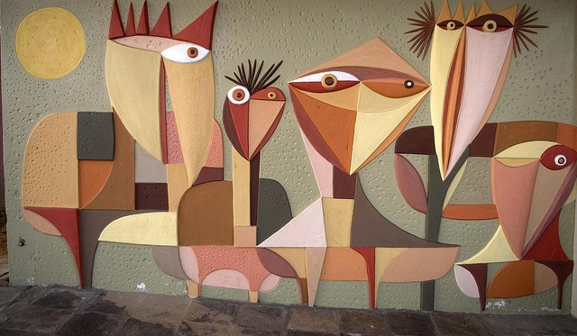 Relief work Mural at Zambi  by Pancho Guedes.