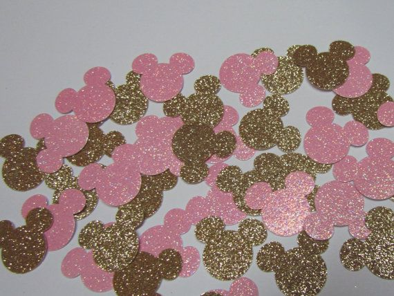 Minnie Pink & Gold glitter birthday party by KhloesKustomKreation